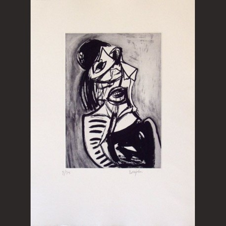Juan Barjola-Mujer que lamenta