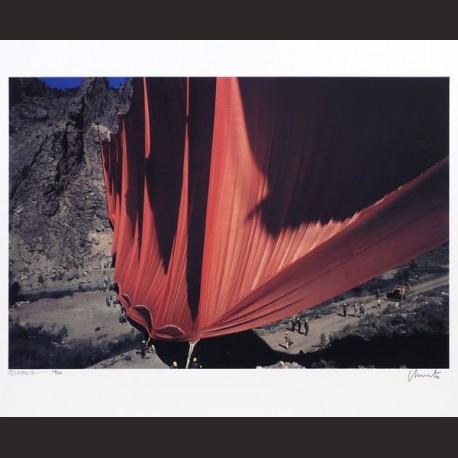 Christo-Valley Curtain, Rifle, Colorado, 1970-1972