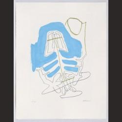 Luis Gordillo-Sin título: azul