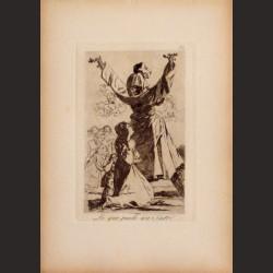 Francisco de Goya-Serie Caprichos - Lo que puede un sastre!