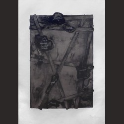 Jasper Johns-Sketch from untitled II