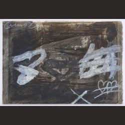 Antoni Tàpies-Amor amb signes blancs