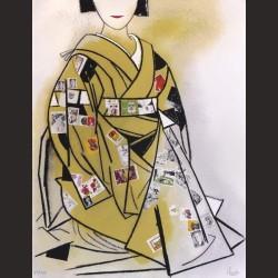 Eduardo Úrculo-Kimono estampad