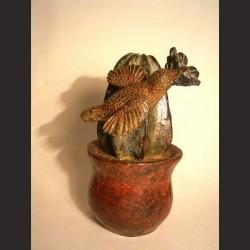 Adán-Cactus con colibrí