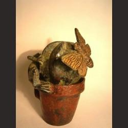 Adán-Cactus con rana