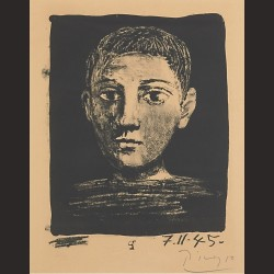 Pablo Picasso-Cabeza de niño