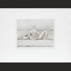 Henry Moore-Reclining Figures, Man and Woman I