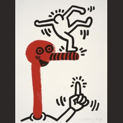 Keith Haring-de la serie The story of red and blue 01