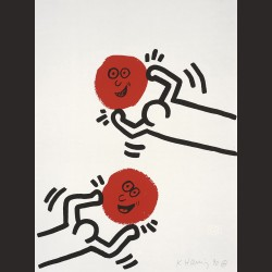 Keith Haring-de la serie The story of red and blue 03