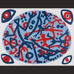 A.R Penck-Untitled (Komposition mit vier augen)