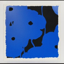 Donald Sultan - serie Blue Poppies 01