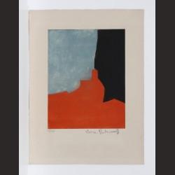 Serge Poliakoff - Composición en rojo, gris y negro