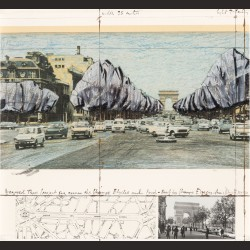 Christo and Jeanne-Claude - Wrapped Tress, Project for the Avenue des Champs-Elysees