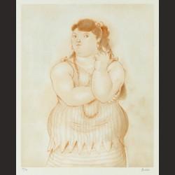 Fernando Botero - Mujer fumando